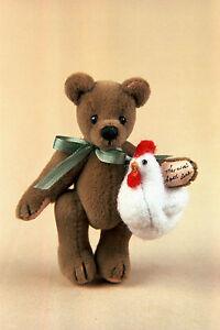 "World of Miniature Bears By Theresa Yang 2.5""/1.25"" Plush Bear Doodles #1113"