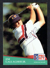 Jim Gallagher Jr. #115 signed autograph auto 1991 Pro Set Golf Trading Card