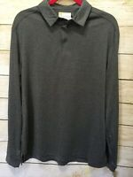 Nicklaus Mens Grey Long Sleeve StayDri Polo Golf Shirt Medium NEW NWT