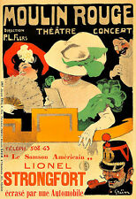 Moulin Rouge  Lionel Strongfort Theatre  Play Show Chic Deco  Poster Print