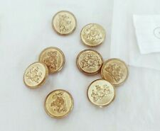 8 PCs OLD VINTAGE BEAUTIFUL DESIGN UNIQUE LOOK METAL COAT BUTTON 16