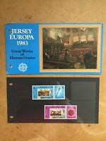 Jersey 1983 Great Works Of Human Genius stamps presentation pack
