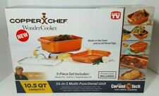 Copper Chef Wonder Cooker 3 Piece Cookware Set Non-Stick Multi-Use 14-in-1 NIB
