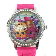 Shopkins Watch with Rhinestones & Silicone Band Analog Watch