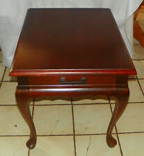 Solid Cherry Mersman End Table / Side Table with Drawer   (RP-T217)