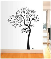 BIG TREE WITH BIRD WALL DECAL  Deco Art Sticker Mural - Leaning to the Left