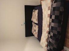 ikeabett schwarz 180x200 mit matratze, bettwasche und steppen