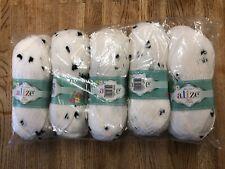 Alize Baby Flower Yarn Knitting/Crochet 100% Acrylic 5x100g Balls Black 5479