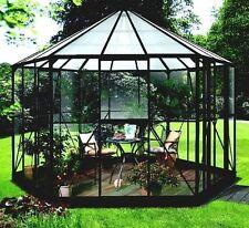 Pergart Vitavia Glas *Pavillion* Gewächshaus Hera 9000 in schwarz mit Glas