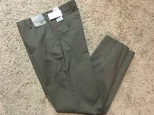 NWT DOCKERS D2 Straight Fit Easy Khaki Pants Flat Front Brown 36X32 MSRP $50