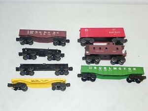 Lionel O Gauge Lot of 7 Freight Cars & Chassis