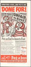 1938 Vintage ad for Bug-a-boo Instect spray art Cartoon Cute  (112017)