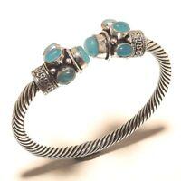 Chalcedony Bangel Gemstone Handmade Silver Overlay Jewelry