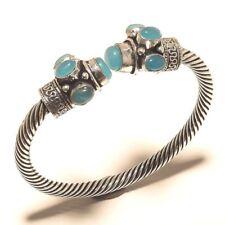 Chalcedony Bangel Gemstone Handmade Silver Plated Jewellery