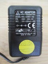 Netzteil Video AC Adapter HKA-1220 EC-230 pri 230 V sek 12 V 2,4 VA T9/1099