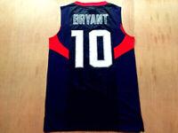 New 2008 OLYMPIC Bryant #10 Basketball Jerseys All Stitched USA Kobe Shirts