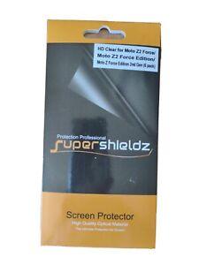 6X Supershieldz Clear Screen Protector Saver for Motorola Moto Z2 Force
