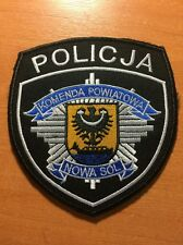 PATCH POLICE POLAND - NOWA SOL - ORIGINAL!