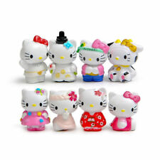 8pcs Hello Kitty Anime Figures Cute Toy Classic Model Doll Kids Gift Cake Topper