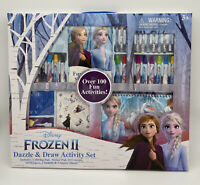 New Disney Princess Frozen 2 Elsa Anna Activity Draw Stencil Color Set Stickers