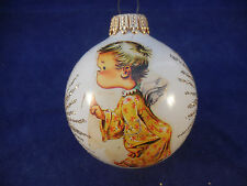 """2 1/2"""" W. GERMANY BALL ANGEL WITH FINGER UP (HUSH)"""