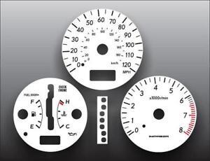 Fits 2004-2007 Subaru Impreza 120 MPH Auto Instrument Cluster White Face Gauges