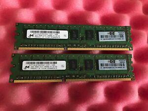 4GB 2 x 2GB HP 500209-061 PC3-10600E DDR3 2Rx8 Unbuffered ECC Server Memory RAM
