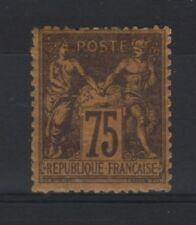 "FRANCE STAMP TIMBRE N° 99  "" SAGE 75c VIOLET SUR ORANGE "" NEUF x A VOIR  T590"