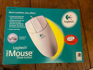 Brand New - Logitech First Mouse 3-Button PS/2 In Box