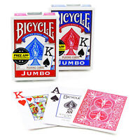 Bicycle JUMBO index playing cards Rider back 1Deck Red or Blue Poker NEW USA