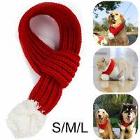 Christmas Dog Cat Bandana Collar Pet Puppy Knitted Neck Scarf Xmas Presents Gift
