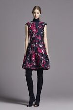 Carolina Herrera Runaway Fall 2016 Jacquard Floral Print Dress Sz US 6 UK 10