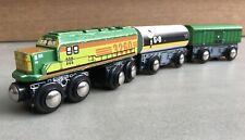 "DRS 3-Car Wooden Train, by Toys ""R"" Us Imaginarium. Compatible w/ Thomas & Brio"