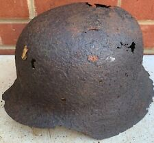 Original WW2 Normandy Relic German Army Helmet - #49