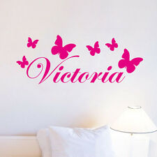 Personalized Butterfly Sticker Any Name Vinyl Wall Decals Kids Bedroom Art Decor
