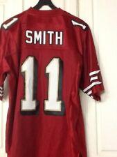 San Francisco 49ers Alex Smith #11 Red Reebok Jersey Large