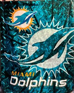 M558/780 NFL Miami Dolphins Fluffy Cosy Fleece Blanket/Throw