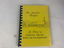 VTG OUR FAVORITE RECIPES ST PETERS LUTHERN CHURCH CAPE COD MASS RECIPE COOK BOOK