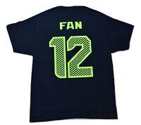 NFL Mens Seattle Seahawks #12 Fan Shirt NWT S, L