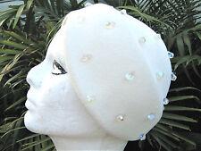 Vintage genuine velour white womens Hat by Frank M Benson and Schiaparelli box