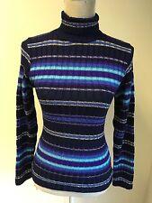 NEW Women Jumper Blue Striped Size 10 (33)