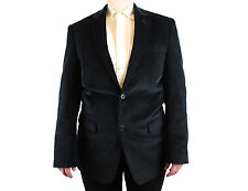 Mens Corduroy Blazer 38R Saddlebred Black Smoking Jacket Sports Coat 2 Button