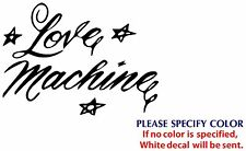 "Love Machine Game TV Movie Funny JDM Vinyl Sticker Decal Car Window Wall 7"""