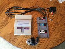 Super Nintendo Snes Original Console Bundle *Tested Working*
