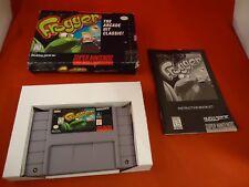 Frogger (Super Nintendo Entertainment System 1998) SNES COMPLETE w Box manual X1