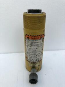 """ENERPAC RC 256 HYDRAULIC CYLINDER 25 TONS CAPACITY 6"""" STROKE SINGLE ACTING"""