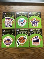 (6) 1982 Fleer Baseball Team Logo Sticker Lot E