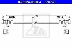 Flexible de frein AUDI 100 (43, C2) 100 (44, 44Q, C3) 100  (43, C2) 100 Avant (4