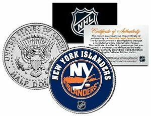NEW YORK ISLANDERS NHL HOCKEY JFK KENNEDY HALF DOLLAR COIN! W/H COA & STAND!