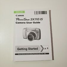 Powershot SX110 IS Digital Camera User Instruction Guide Manual Original